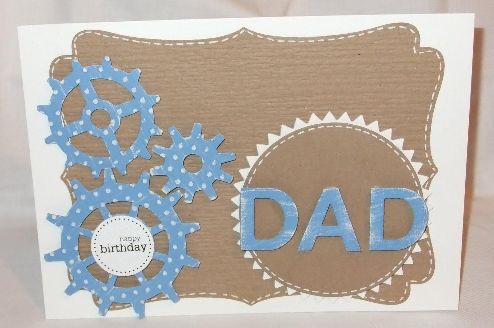 Birthday Card Idea Dad Using Tim Holtz Gadget Gears Die
