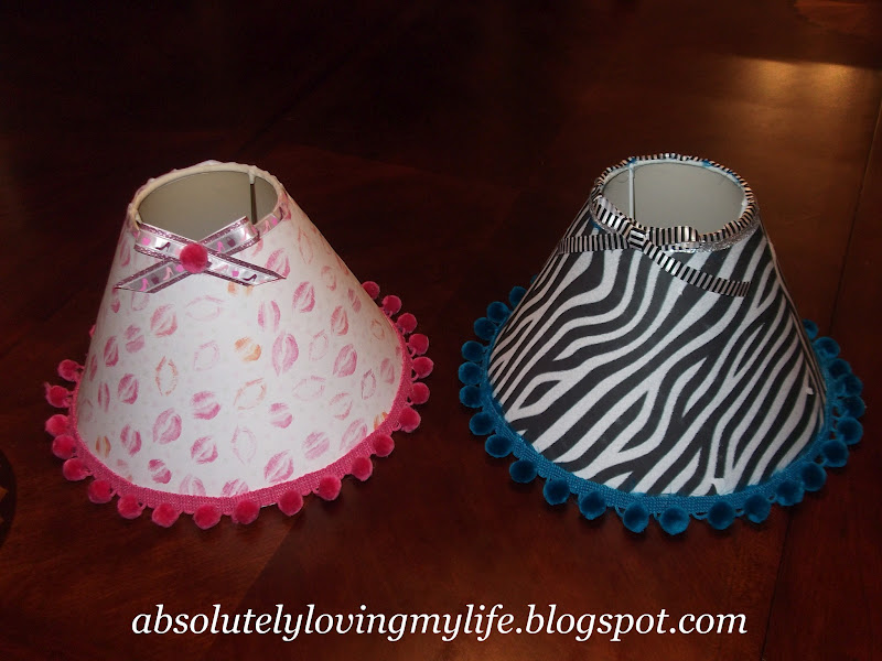 Loving life diy little girl lamp shades the girls are in the process of getting new dcor for their bedrooms and their mom asked me if i could find or make lamp shades to match the new dcor audiocablefo