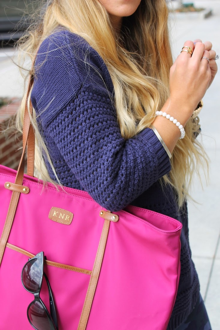 Navy and Pink color combo