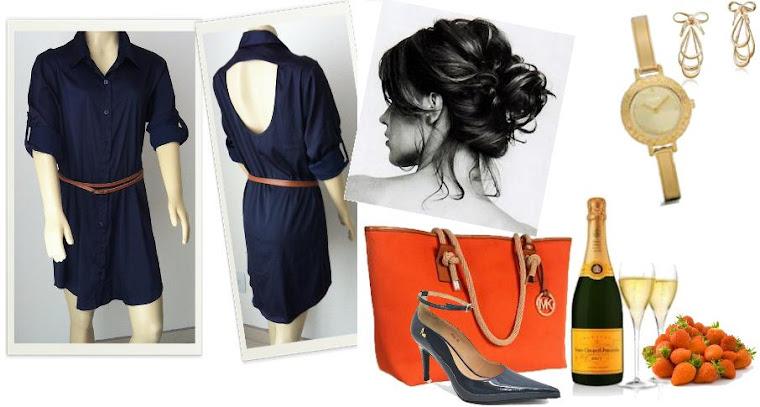 Look vestido Azul.