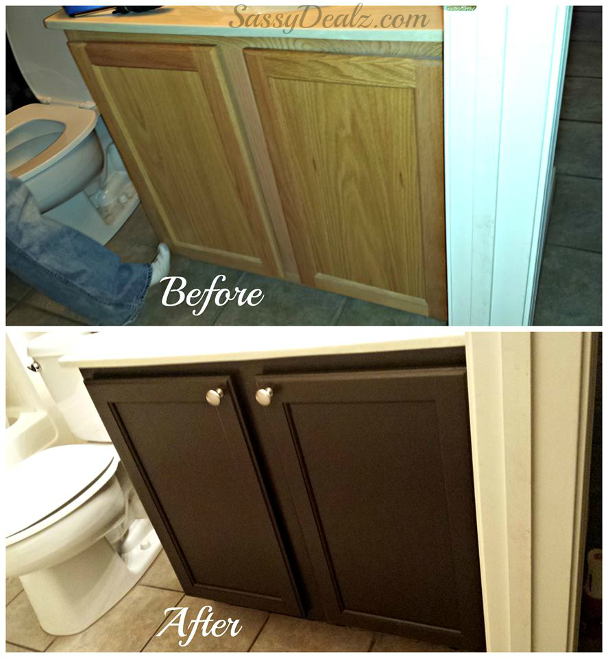 before after rustoleum transformation cabinets