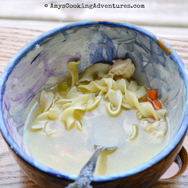 unbelievable chicken noodle soup: kids in the kitchen
