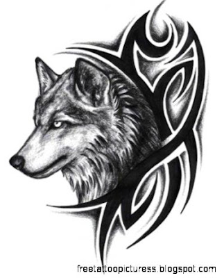 tribal wolf tattoos on Pinterest  Wolves Hummingbird Tattoo and