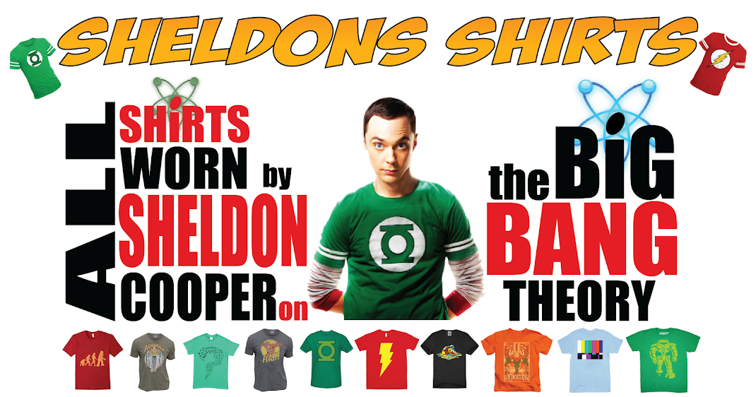 All Shirts Worn by Sheldon Cooper in The Big Bang Theory