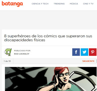 Página web cómic