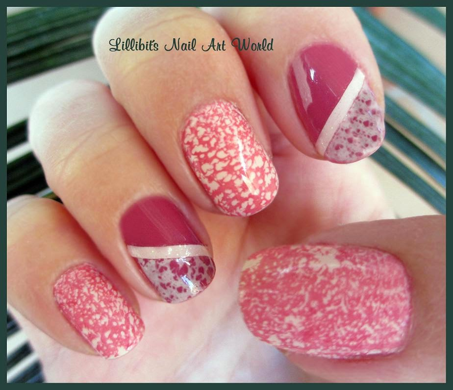 Lillibit´s Nail Art World: Water Spotted Nails Con Mess No