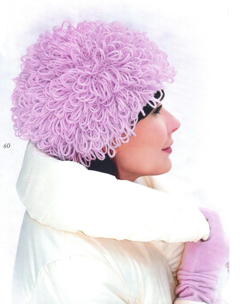 Вязание меховых шапок спицами для женщин