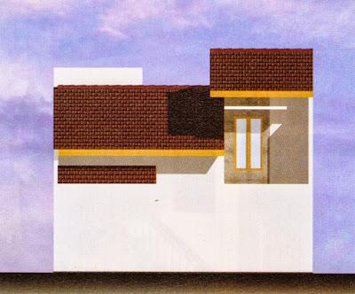 Desain Rumah Nampak Belakang