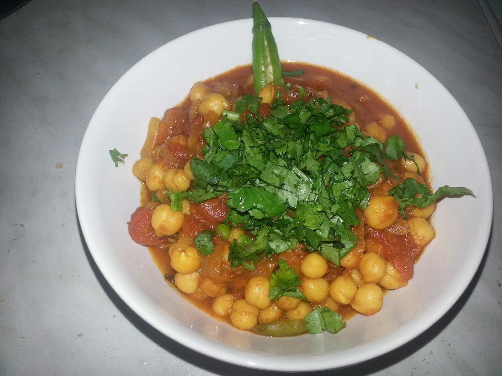 fatafat channa masala curry