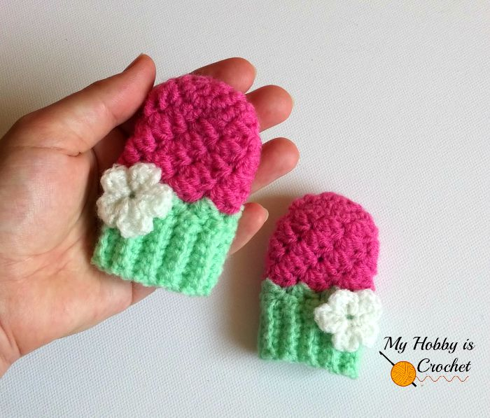 Crochet Baby Gloves Pattern : My Hobby Is Crochet: Blooming Berry Baby Mittens - Free ...