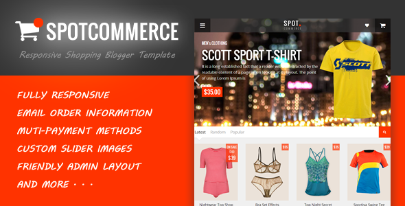 SpotCommerce Blogger Template