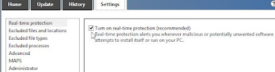 Setting Konfigurasi Windows Defender di Windows 8 step 2