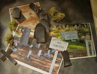 Partially enclosed by a white picked fence this Tiny Graveyard stands