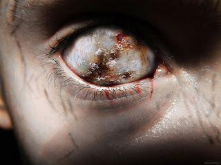 Zombie Eye Dark Gothic Wallpaper