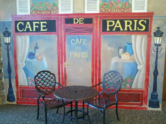 The Talking Artist Paris Caf Mural