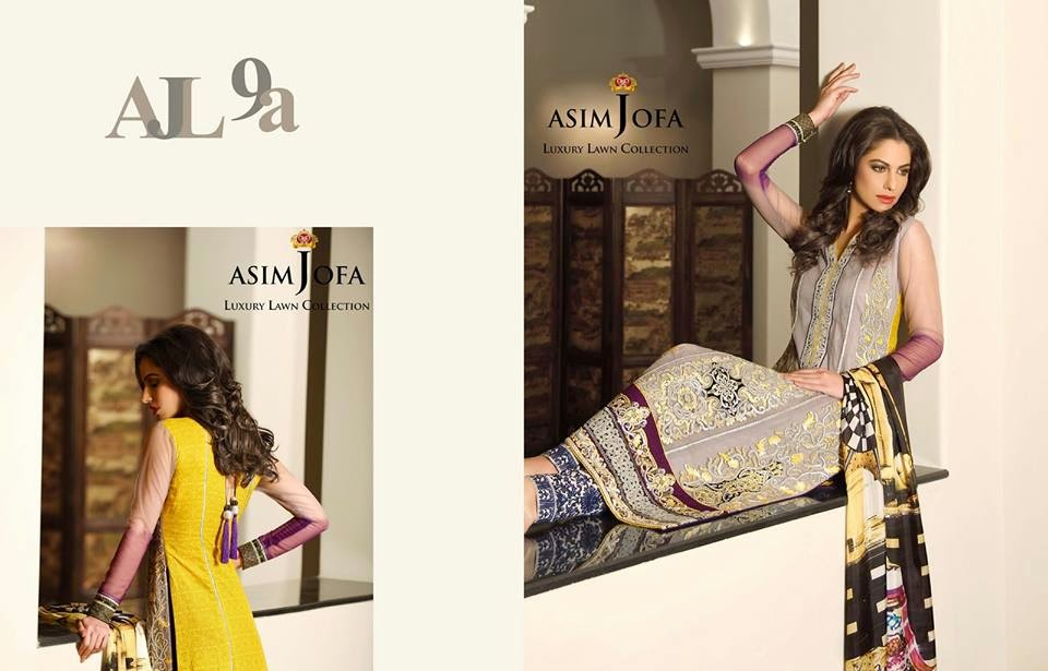 Asim Jofa Latest Summer Lawn Collection 2015