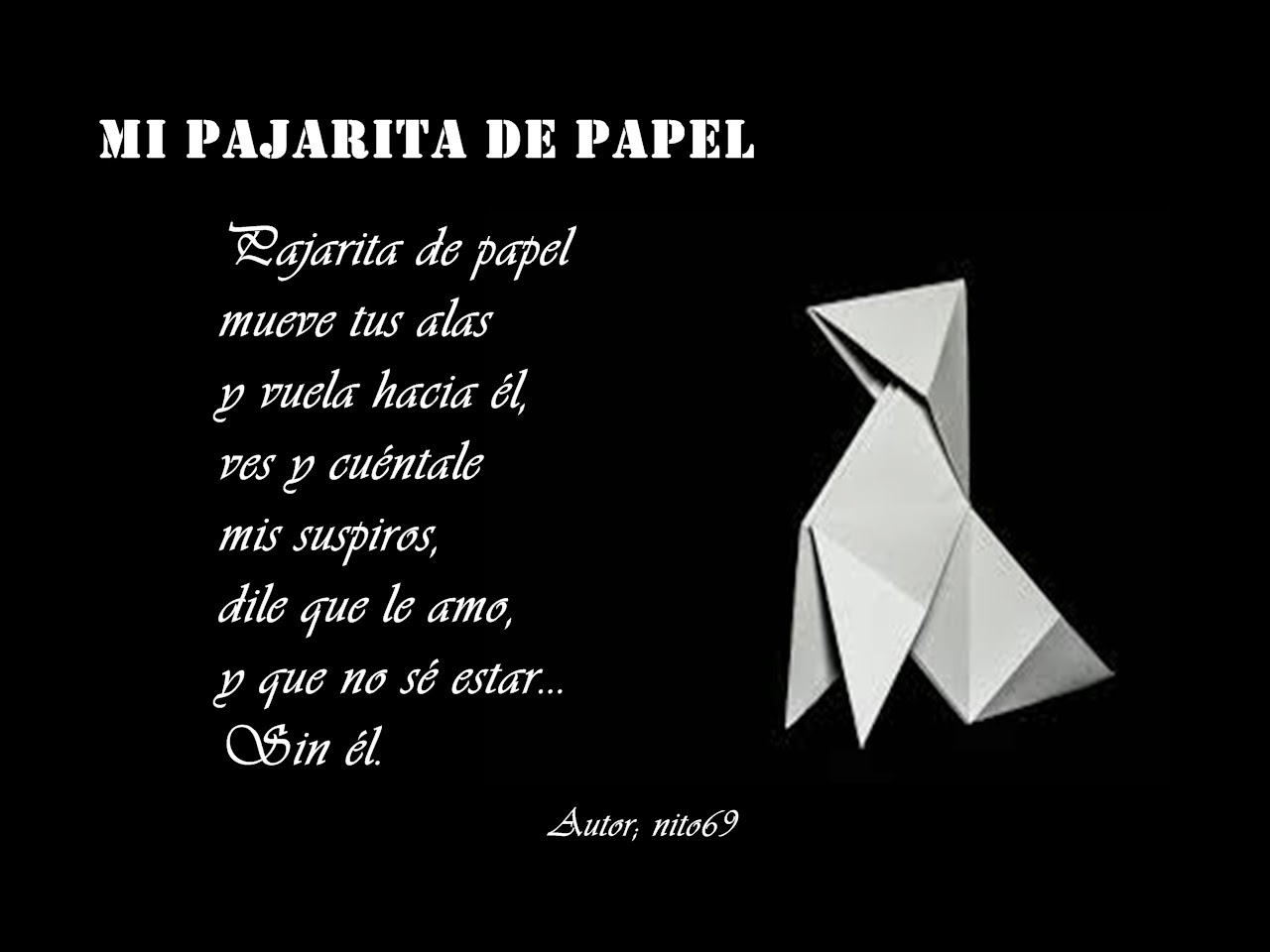 MI PAJARITA DE PAPEL