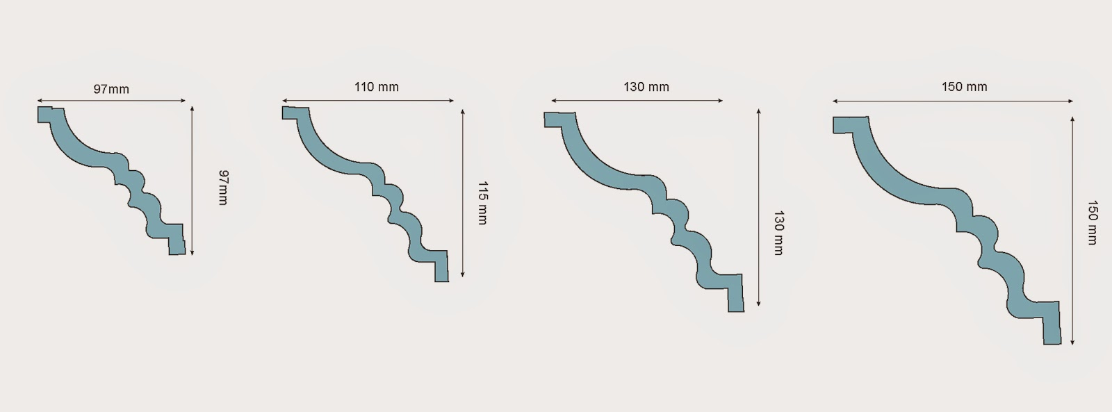 baghete tavan dimensiuni, pret,  modele, dimensiuni. profile polistiren