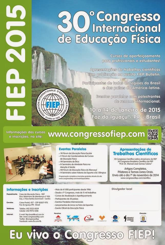 Viva o 30º Congresso Internacional de Educação Física!