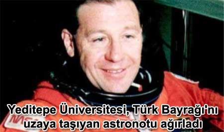 Yeditepe Universitesi, Turk bayragini uzaya tasiyan astronotu agirladi