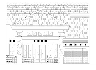 Denah Rumah Ukuran 10,8 m x 22,5 m