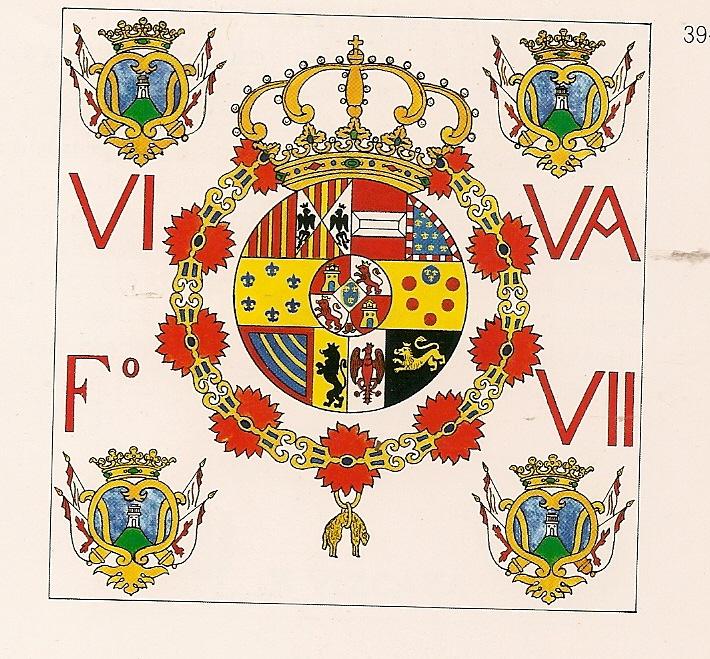 "Bandera realista ""Viva Fernando VII"""