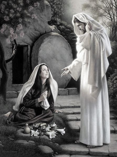 María Magdalena y Jesús de Nazaret después de la resurrección