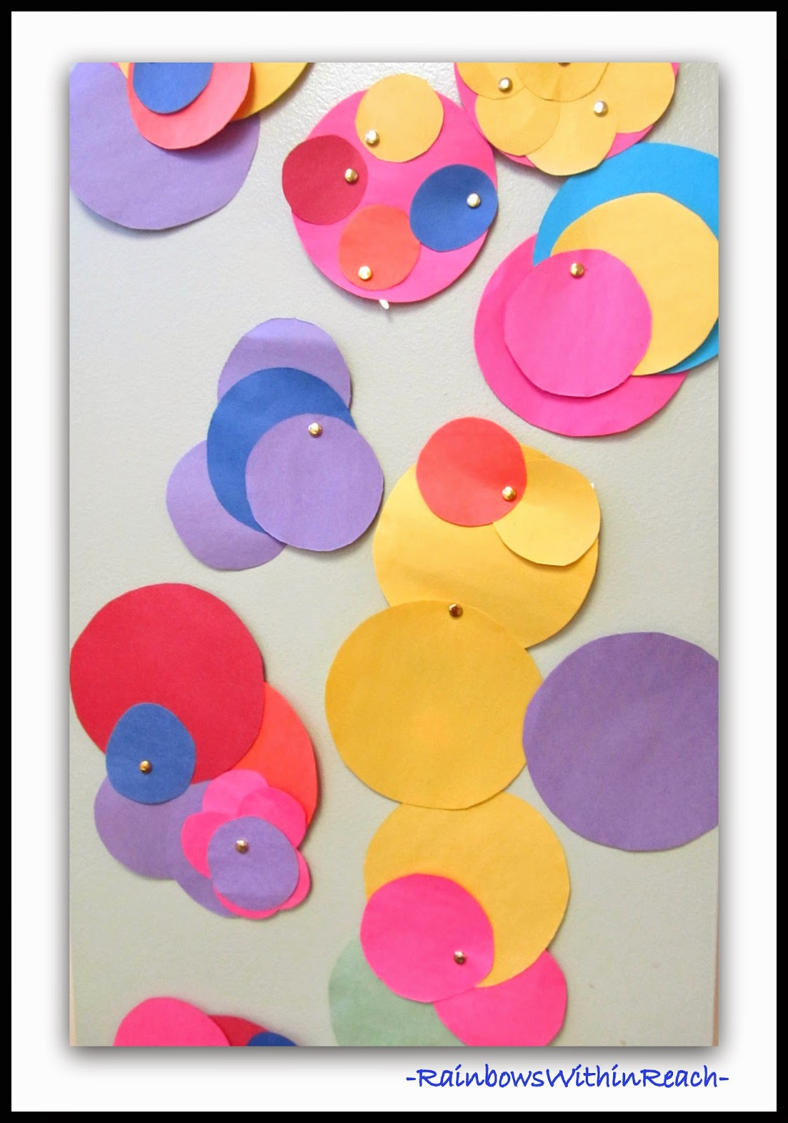 AUTHENTIC Art Work by Preschoolers Exploring Circles via PreK+K Sharing