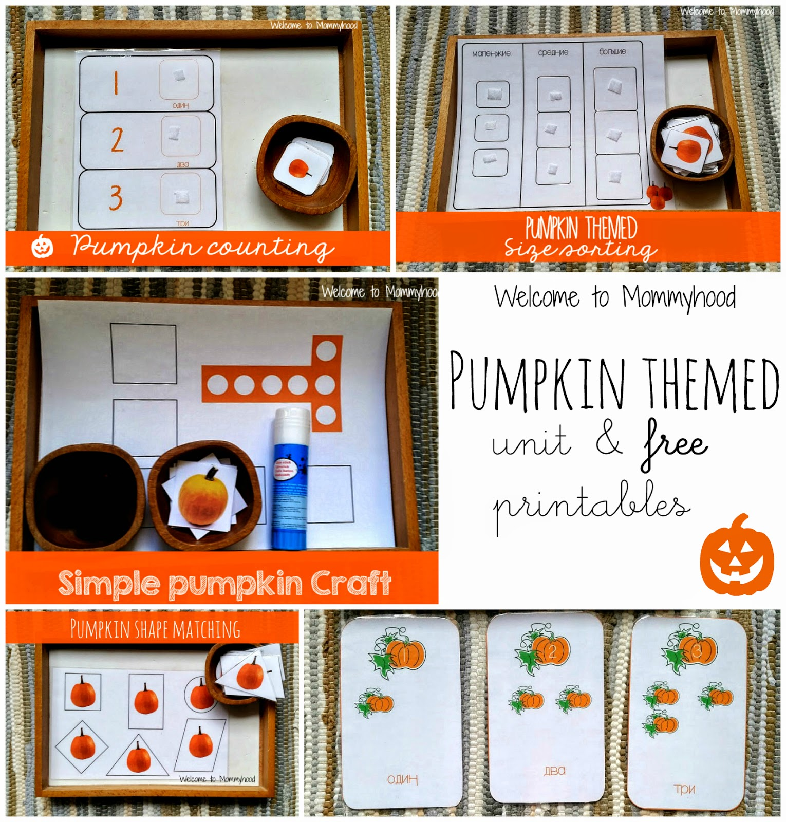 Pumpkin activities for toddlers & Free pumpkin printable pack by Welcome to Mommyhood