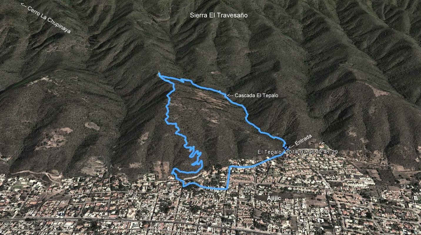 Circuito en la Sierra el Travesaño, Cascada El Tepalo como punto principal del recorrido