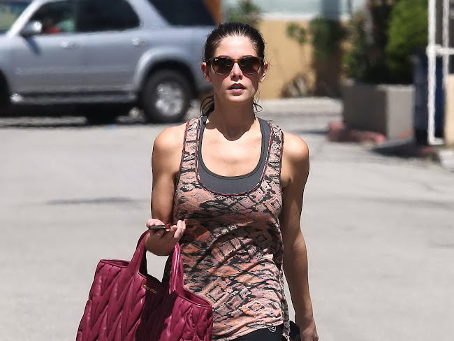 ASHLEY GREENE Leaving The Gym in Studio City pictures