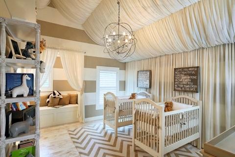 Habitaciones para beb s gemelos dormitorios colores y - Habitacion bebe original ...