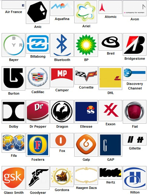 Facebook Logo Quiz Answers Level 2