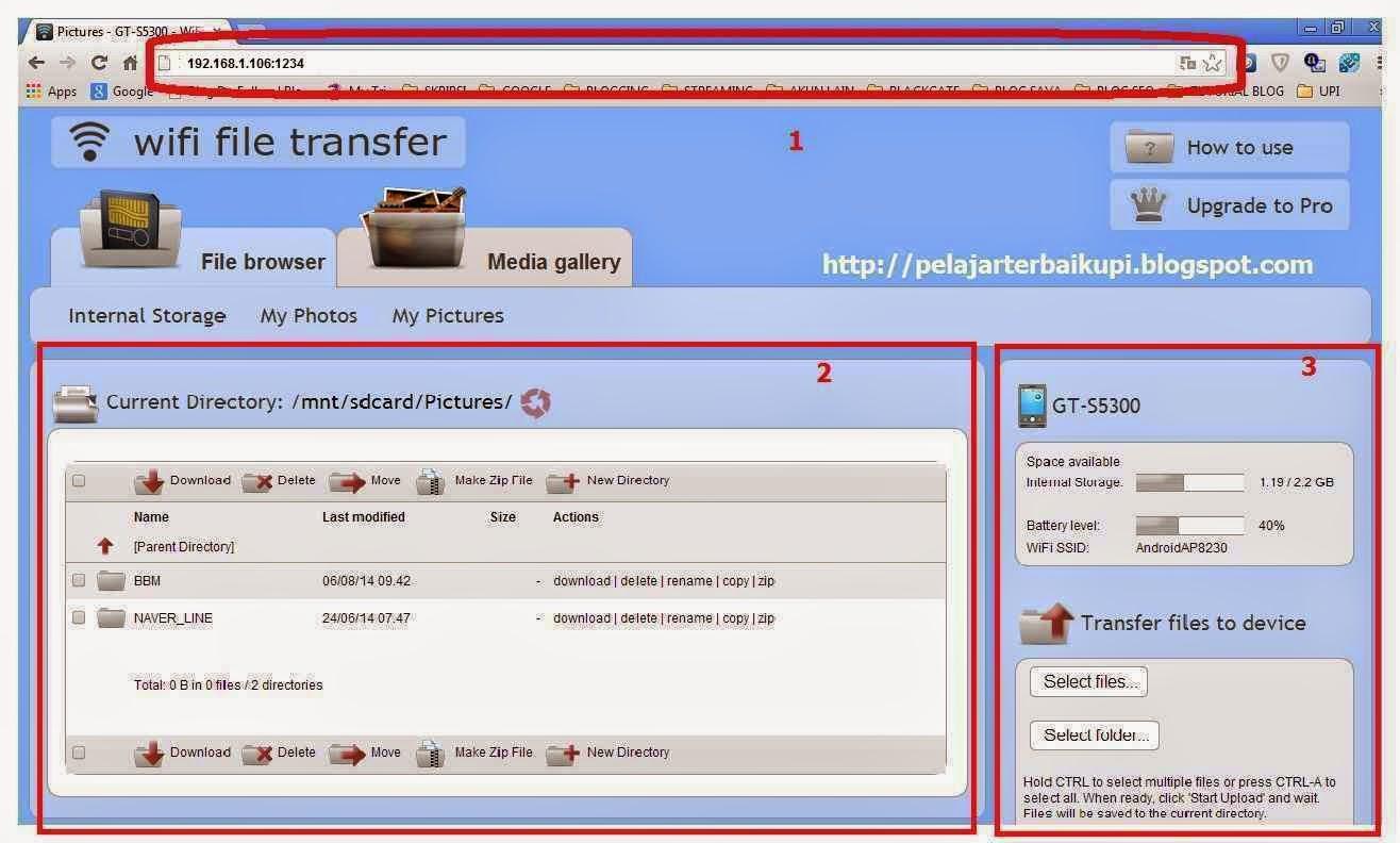 Cara Kirim File Android Ke PC Via Wifi File Transfer