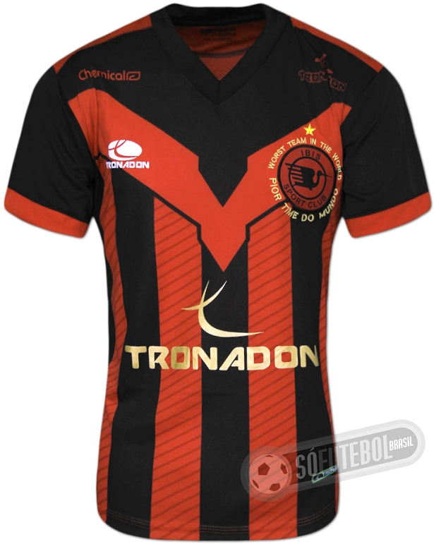 b36e1d3e6b Tronadon apresenta novas camisas do Íbis - Show de Camisas