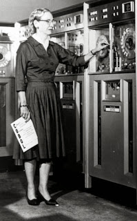 Grace Brewster Murray Working in Early Computer