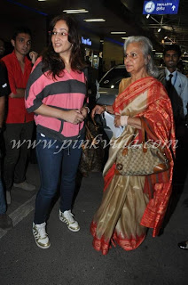 Sidharth Malhotra, Madhuri Dixit & other celebs leave for SAIFTA