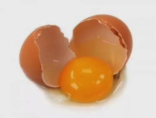 telur mentah