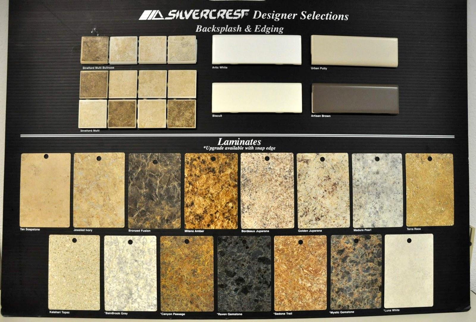Counter Top Tile And Laminate Decor Silvercrest Advantage Homes