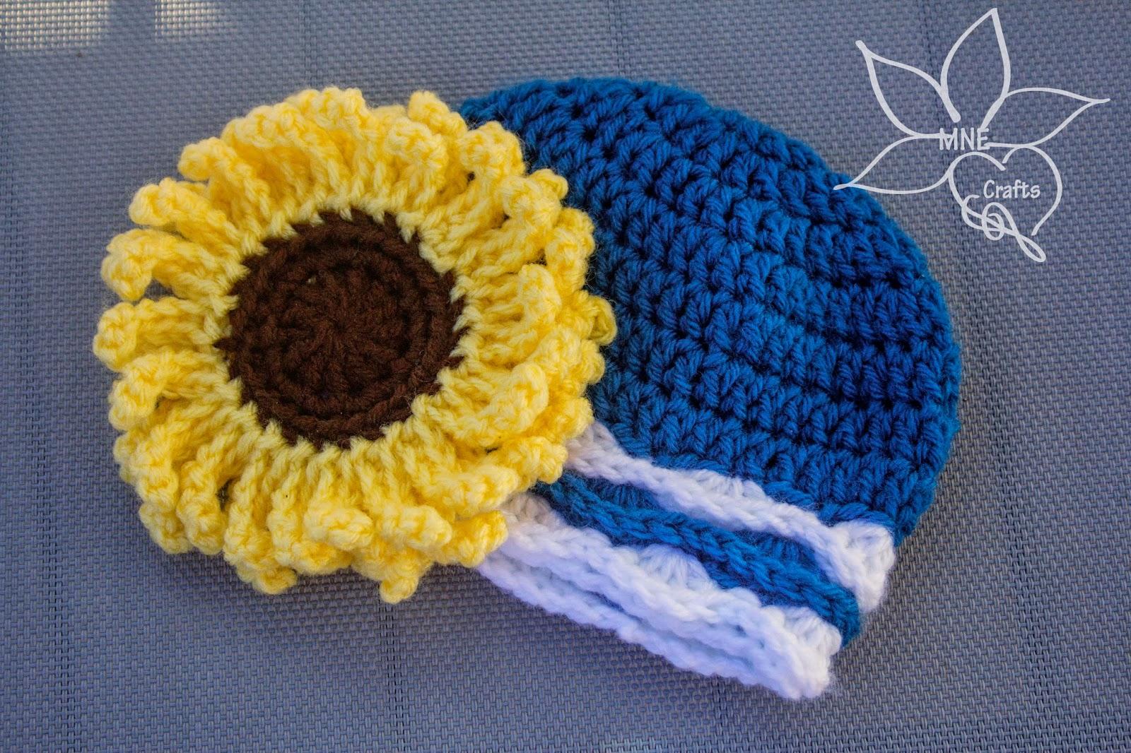 Mne Crafts Crochet Supporting Als Free Sunflower Als Baby Beanie