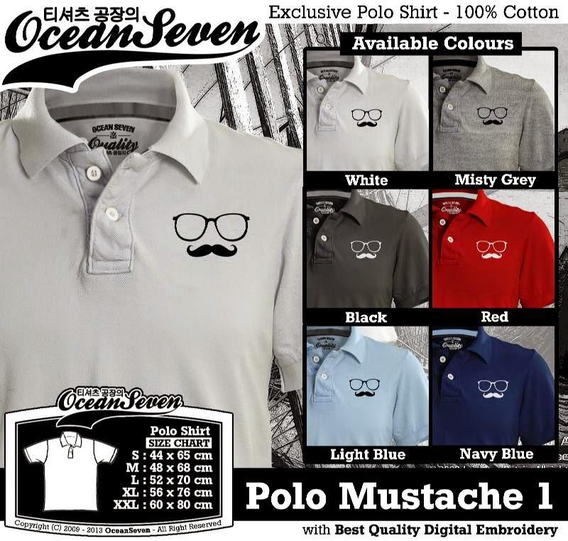 Kaos Polo Mustache 1