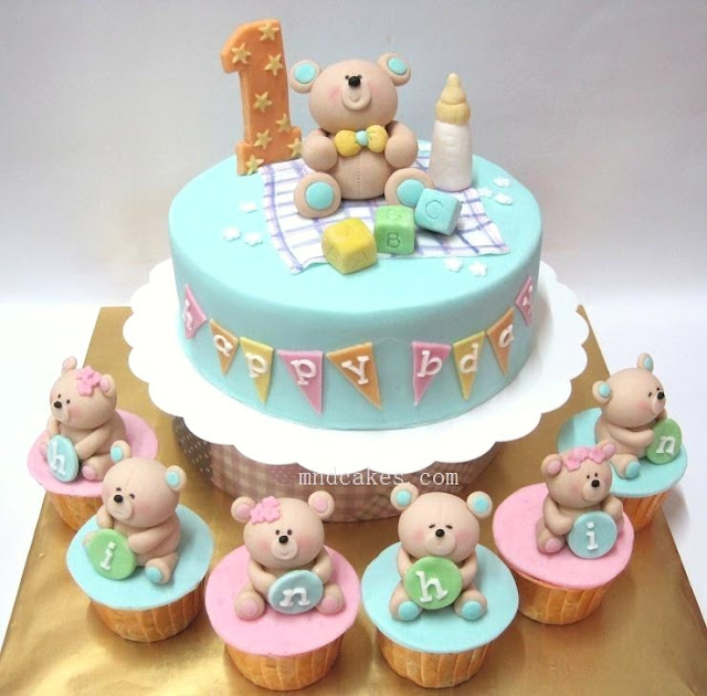 Mom And Daughter Cakes: Pastel Colours On Children Birthday Cakes