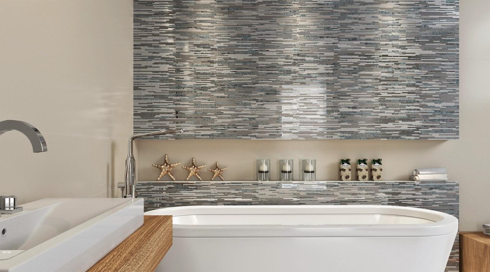 projeto de banheiro utilizando o mosaico MC Line GR - lançamentos 2015 da Cerâmica Portinari