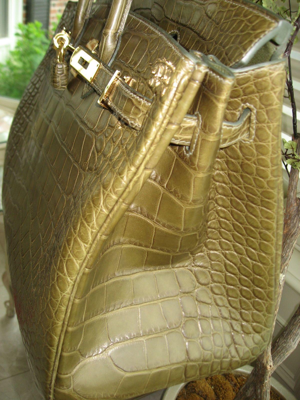 blue crocodile handbag hermes - hermes birkin 35 matte aliigator vert veronese gold hardware ...