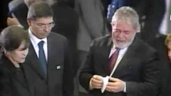 Lula, o melhor ator do Brasil, trabalhando