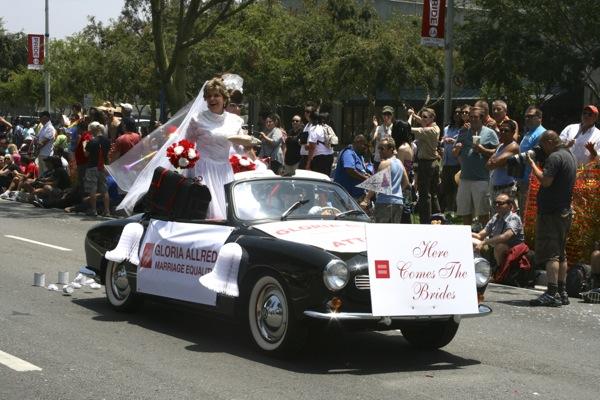 Gloria Allred LA Pride Parade 2013