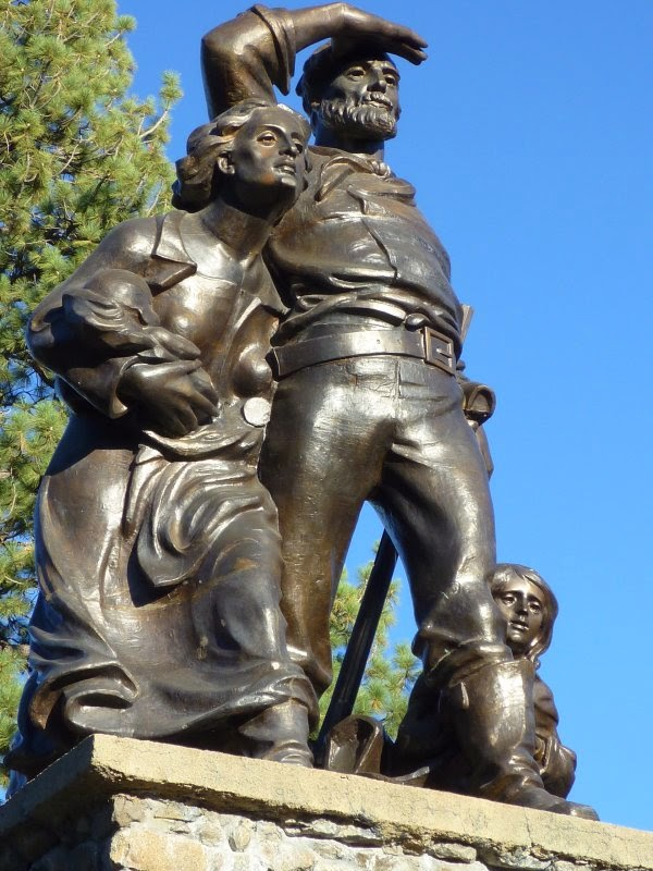 Donner Party Memorial next to Donner Pass Road, Truckee, California