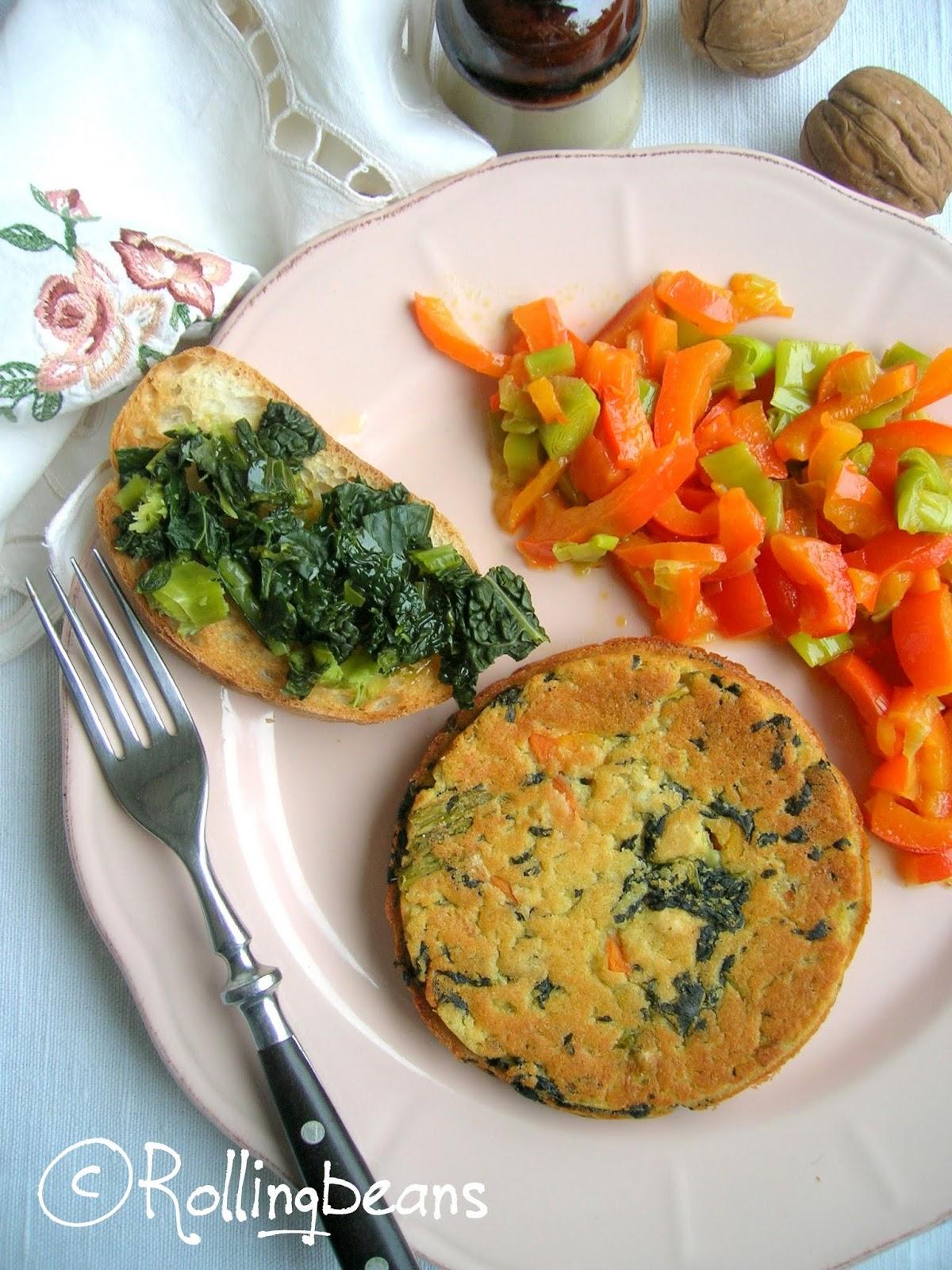 medaglioni di fave e cavolo nero (vegan)
