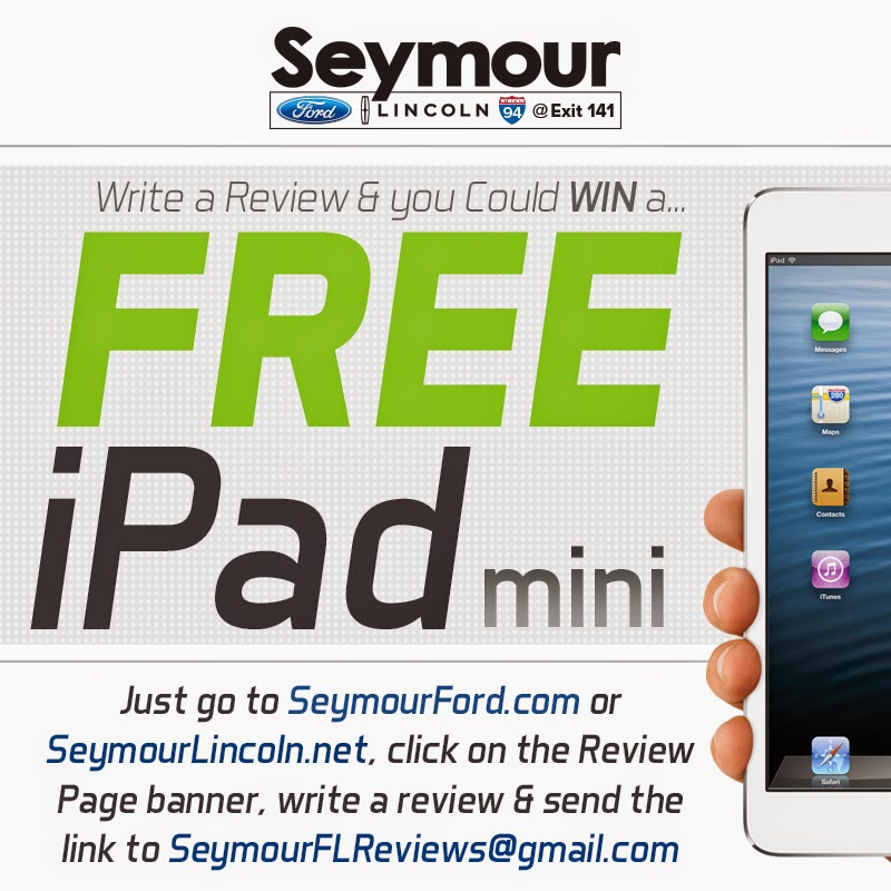 Seymour Ford Lincoln's FREE iPad Mini Giveaway is BACK!