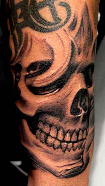 Effect But Be Warned Your Skull Tattoo Designs Is Sure To Scare Kids